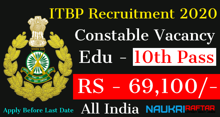 ITBP Recruitment 2020 Apply Online